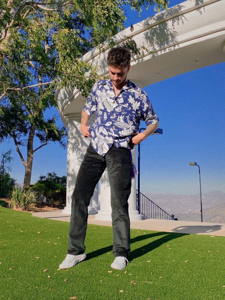 Kian Lawley in the park