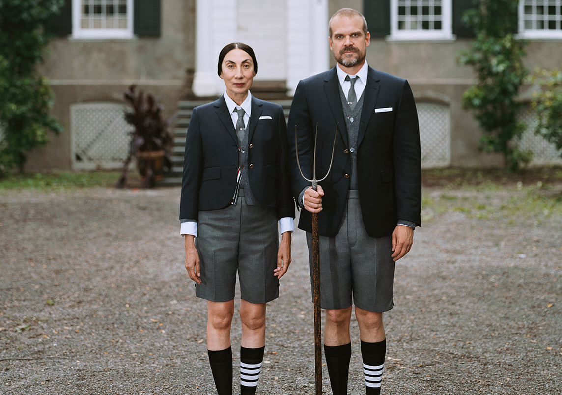 """""""Thom Browne: Welcome Home"""" starring David Harbour and Anh Doung """"Thom Browne: Welcome Home"""" starring David Harbour and Anh Doung Vanity Teen 虚荣青年 Menswear & new faces magazine"""